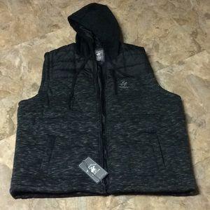 Beverly Hills Polo Club Men's black & grey vest